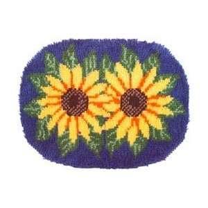 Wonderart Latch Hook Kit 20X27 Sunflowers Home