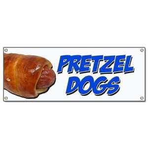 PRETZEL DOGS BANNER SIGN soft pretzel hot dog signs Patio