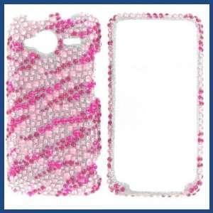 Full Diamond Hot Pink Zebra Protective Case