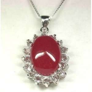 Sensous Red GIFT Jade Crystal Pendant & Necklace   from