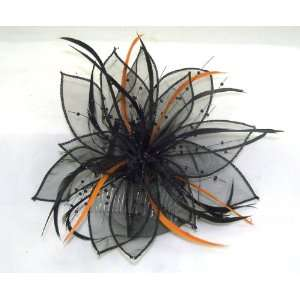 Sheer Flower Hair comb Hat Halloween Costume Accessory