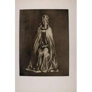 1899 Print Medieval Queen Crown Costume Henry Wilson