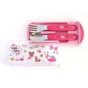 Hello Kitty Design Utensil Set, Spoon and Fork