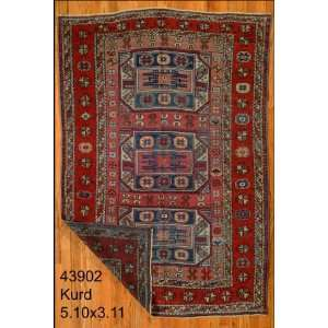 3x5 Hand Knotted Kurd Kurdistan Rug   311x510: Home & Kitchen