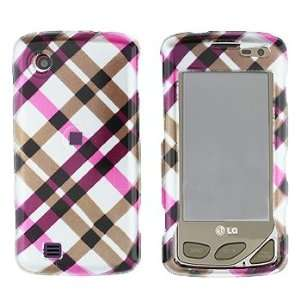 LG VX8575/Chocolate Touch Hot Pink Plaid Cover   Faceplate   Case