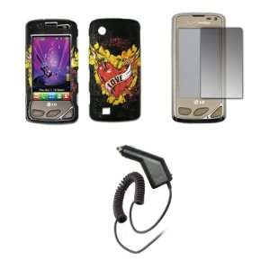 Case + Screen Protector + Car Charger (CLA) for LG Chocolate Touch