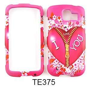 LG Optimus S LS670 Pink Heart with Zipper Hard Case,Cover