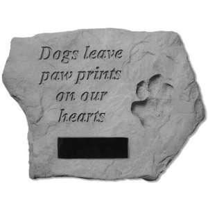 Dog Memorial Dog Paw Prints Memorial Stone