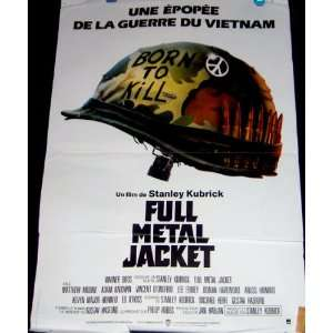 Full Metal Jacket 1987 French Movie Poster (Movie