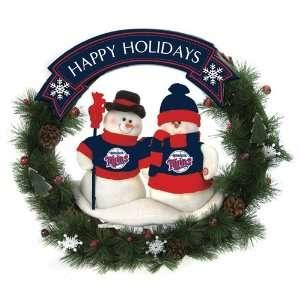 20 MLB Minnesota Twins Snowman Couple Christmas Berries