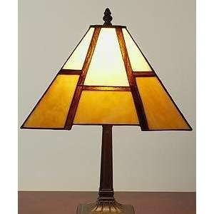 Tiffany style Amber Mission style Table Lamp: Electronics