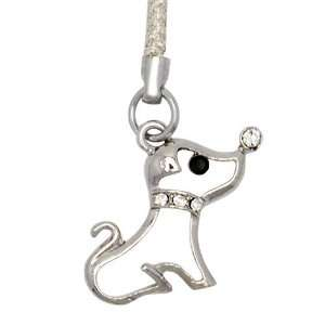 Cell / Mobile Phone / Camera Charm Strap (White Puppy