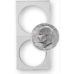 Dollar Size Cardboard Coin Flips   Fits Ike, Morgan, & Peace Dollars