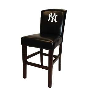 MLB New York Yankees Bar Stool in Black Finish with 24
