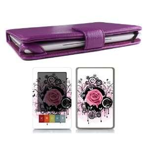 Leather Case Cover Jacket + Skin Art Decal Sticker + Screen Protector