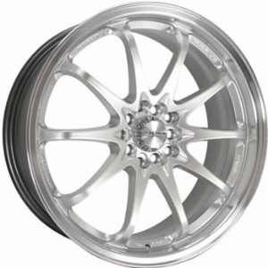 Kyowa 206 18x7.5 Hypersilver Wheel / Rim 5x100 & 5x4.5 with a 45mm