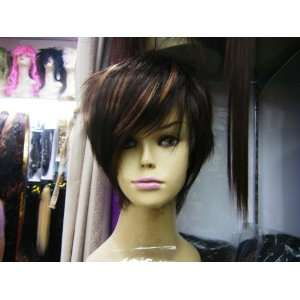 Short High Quality Synthetic Brown Straight Hair Wig Beauty
