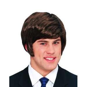 60s 70s Rock Star Beatles Mens Short Brown Costume Wig Toys & Games