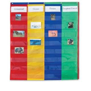 Teachers Friend 3 Column Chart Pocket Chart, Multiple Colors (TF5114