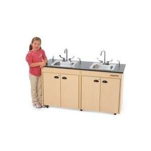 Angeles Lil Delux Hot Water Stainless Steel Sink with Laminate Top