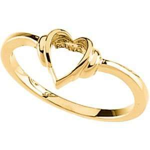 Heart Promise Ring   14k Yellow Gold/14kt white gold Jewelry