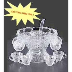 Essentials 3300 27 Piece Punch Bowl Set   Case of 2
