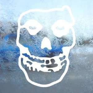 Misfits White Decal Skull Punk Car Window Laptop White