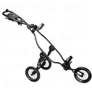 New Bag Boy Golf Quad 4 Wheel Push Pull Cart Navy Blue on Golf Cart Bag