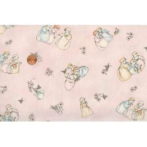 Red Rooster Babys Childhood Days Allover Pink Cotton Fabric By the