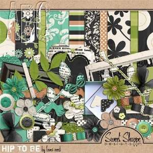 Digital Scrapbooking Kit: Hip To Be by Traci Reed: Arts