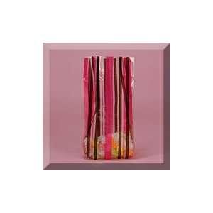 100ea   5 X 3 X 11 1/2 Sweet Stripes Pink/Black Cello Bag