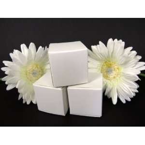 Glossy White Cube Wedding Favor Boxes Health & Personal