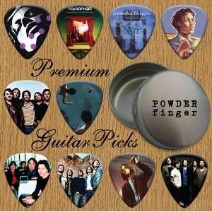 Powder Finger 10 Premium Guitar Picks In Tin (0) Musical Instruments