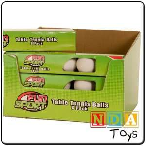 Table Tennis Balls 6 Pack  Toys & Games