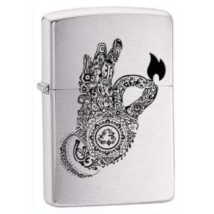 New Zippo Get Fired Up Flame Street Chrome High Quality Durable
