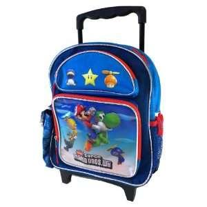 Nintendo Super Mario Rolling Backpack  Toddler Size Mario Wheeled