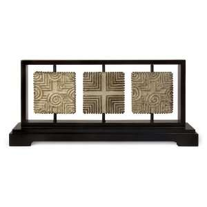 Classical Groove Patterned Tile Table Top Centerpiece