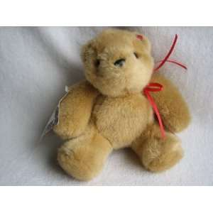 Hallmark Butterscotch Teddy Bear Valentine Plush (5 1/2