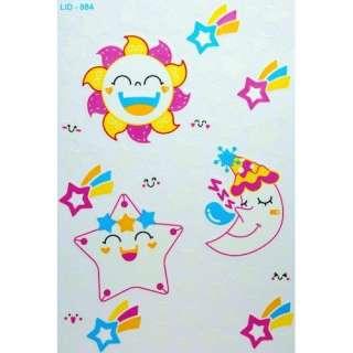 Cute Japanese Sun , Moon, Star Stickers (Glow In Dark)  Toys & Games