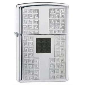 Zippo Greek Keyed High Polish Chrome Lighter Health