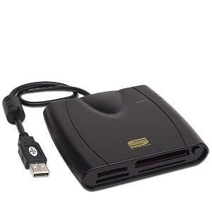 7 in 1 USB External Flash Memory Card Reader (Black