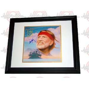 WILLIE NELSON Autographed Signed Framed Album LP Kitchen