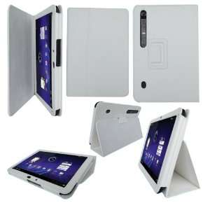 Folio Leather Stand Case for Motorola Xoom  Players & Accessories