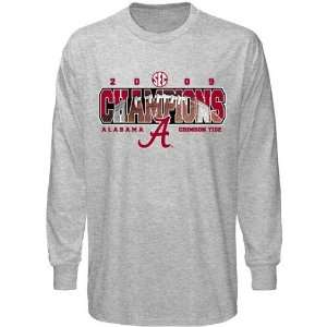 com Alabama Crimson Tide Youth Ash 2009 SEC Champions Football Accent