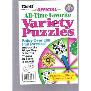 Dell Offical All time Favorites Variety Puzzles (Over 290 fun puzzles