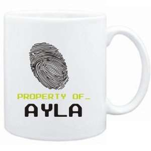 Mug White  Property of _ Ayla   Fingerprint  Female