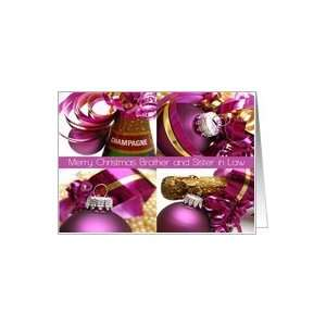 brother & sister in law   purple christmas collage card Card