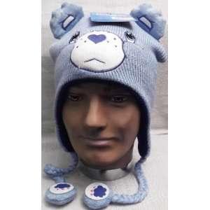 CARE BEARS BLUE CLOUD BEAR LAPLANDER Adult Hat Everything