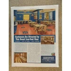 Armstrongs Asphalt Tile, Vintage 40s full page print ad