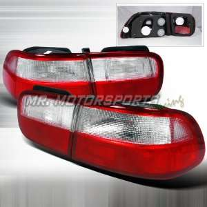 CIVIC 2D RED/CLEAR TAIL LIGHTS LED Automotive